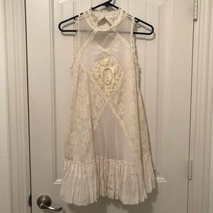 FREE PEOPLE lace detailed dress